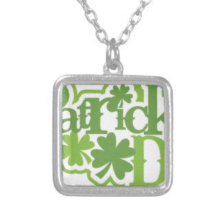 St Patrick Tag, Heiliger Patrick-Irenentwurf Versilberte Kette