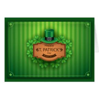 St Patrick Tag - Hut u. Klee - fertigen besonders Karte