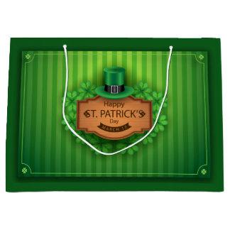 St Patrick Tag - Hut u. Klee Große Geschenktüte