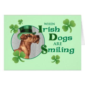 St Patrick Tag irisches Terrier Karte