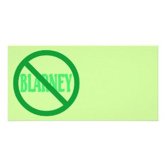 St Patrick Tag kein Geschwätz erlaubt Fotokartenvorlage