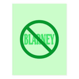 St Patrick Tag kein Geschwätz erlaubt Postkarte