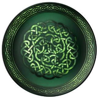 St Patrick Tag - keltisches Muster rund Porzellanteller