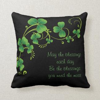 St Patrick Tag Kissen-Mai der Segen Kissen