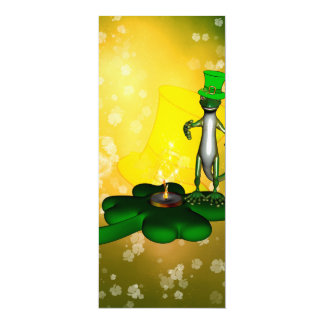 St Patrick Tag, lustiger, cooler Gecko 10,2 X 23,5 Cm Einladungskarte