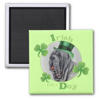 St Patrick Tag Mastino Quadratischer Magnet