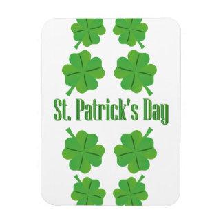 St Patrick Tag mit Klee Magnet
