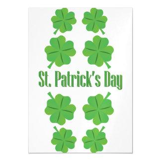 St Patrick Tag mit Klee Magnetische Karte