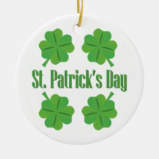 St Patrick Tag mit Klee Rundes Keramik Ornament