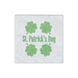 St Patrick Tag mit Klee Stein-Magnet