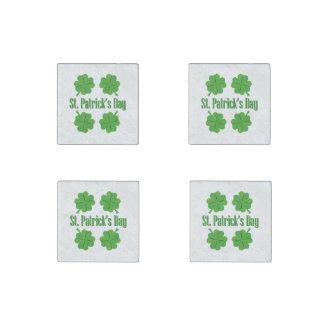 St Patrick Tag mit Klee Steinmagnet