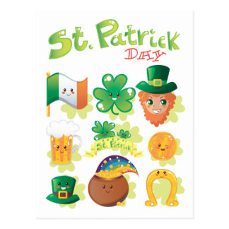 St Patrick Tag Postkarte