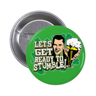 St Patrick Tag Runder Button 5,7 Cm