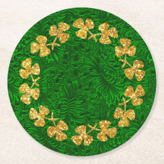 St Patrick Tag Runder Pappuntersetzer