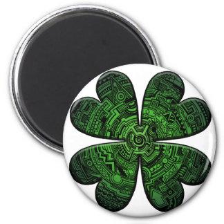 St Patrick Tag vierblättriges Runder Magnet 5,7 Cm