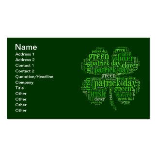 St Patrick Tag Visitenkarten