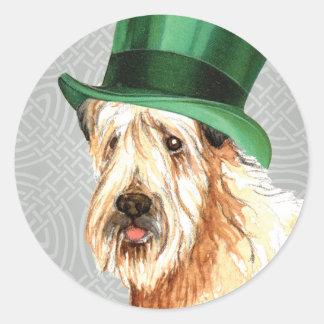 St Patrick Tag Wheaten Terrier Runder Aufkleber
