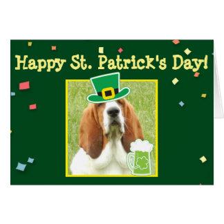 """St Patrick Tages"" Karte mit Dachshund u. grünem"