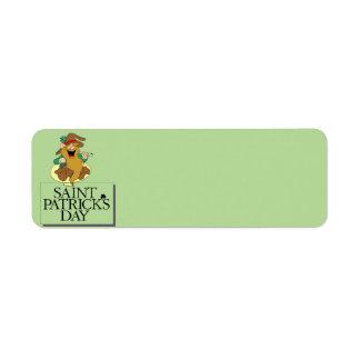 St Patrick Tagesadressen-Etikett