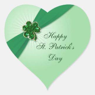 St Patrick Tagesaufkleber Herz-Aufkleber