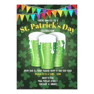 St Patrick Tagesbier-Party Einladungen