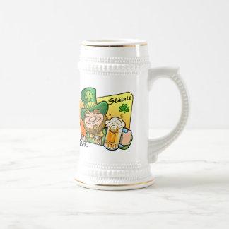 St Patrick Tagesbierstein-Tasse mit irischem Toast Bierglas