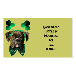 St Patrick Tagesboxer-Visitenkarten Visitenkarten