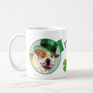 St Patrick Tagesbulldogge Kaffeetasse