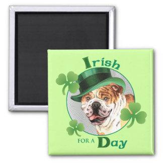 St Patrick Tagesbulldogge Quadratischer Magnet