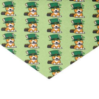 St Patrick Tagescorgi-Kobold-Hundewelpen-Hündchen Seidenpapier
