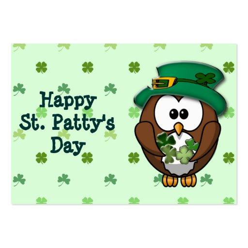 St Patrick Tageseule Visitenkarten Vorlage