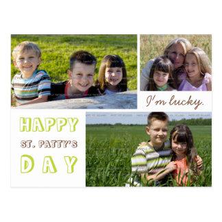 St Patrick TagesFoto-Collagen-Postkarten-Schablone Postkarte