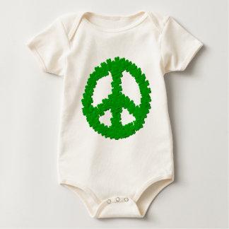 St Patrick Tagesfriedenszeichen Baby Strampler