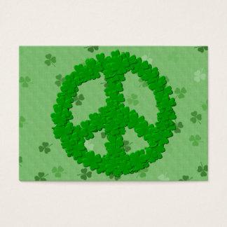 St Patrick Tagesfriedenszeichen Jumbo-Visitenkarten