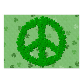 St Patrick Tagesfriedenszeichen Mini-Visitenkarten
