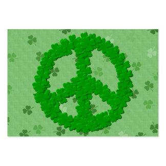 St Patrick Tagesfriedenszeichen Visitenkartenvorlage