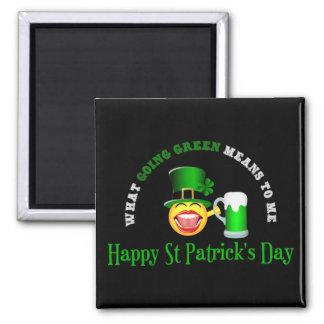 St Patrick Tagesgehender grüner quadratischer Quadratischer Magnet