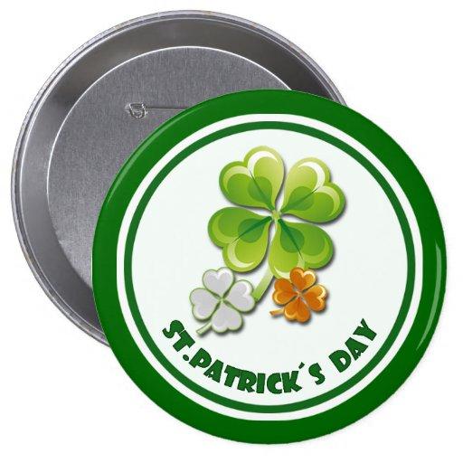 St Patrick Tagesgeschenk-Knöpfe Anstecknadelbuttons