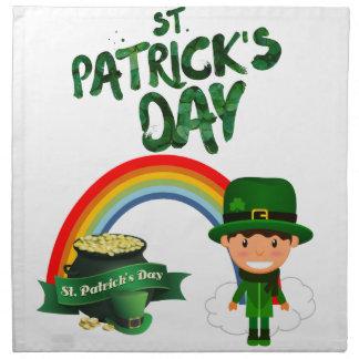 St Patrick Tagesgeschenke Stoffserviette