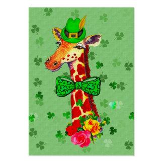 St Patrick Tagesgiraffe Mini-Visitenkarten