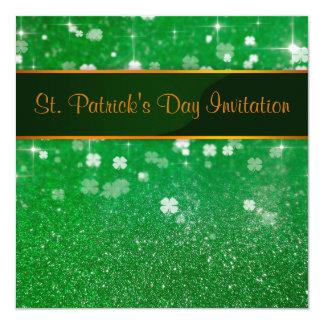 St Patrick TagesGlitzer-Klee - Einladung
