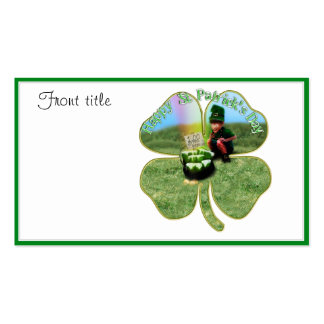 St Patrick Tagesglückliches Topf o Bier Visitenkarten