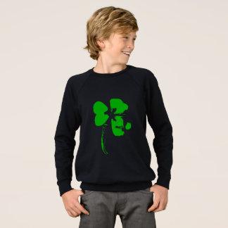 St Patrick Tagesgrün-Klee - Jungen-Shirt Sweatshirt