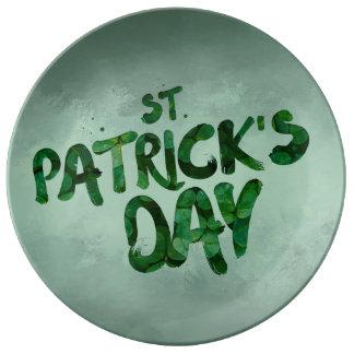 St Patrick Tagesgrün-Kleeirischer Celtic Porzellanteller