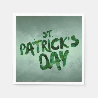 St Patrick Tagesgrün-Kleeirischer Celtic Serviette