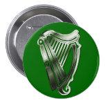 St Patrick Tagesharfe des Runder Button 7,6 Cm