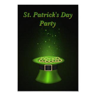 St Patrick Tageshut-Münzen - Einladungs-Karte Karte
