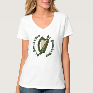 St Patrick Tagesirische Harfe - T - Shirt 2