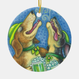 St Patrick Tagesirische Jagdhunde HUNDEverzierung Keramik Ornament