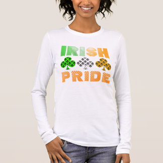 St Patrick Tagesirischer Stolz-Damast-T - Shirt
